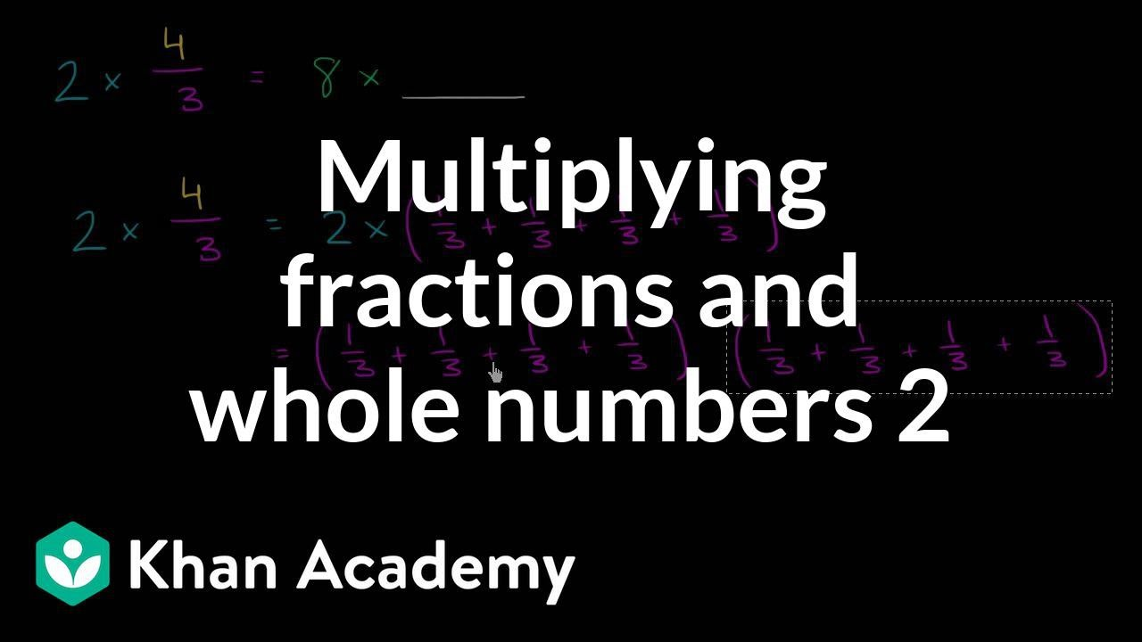 Whole number and fraction multiplication concept | 4th ...