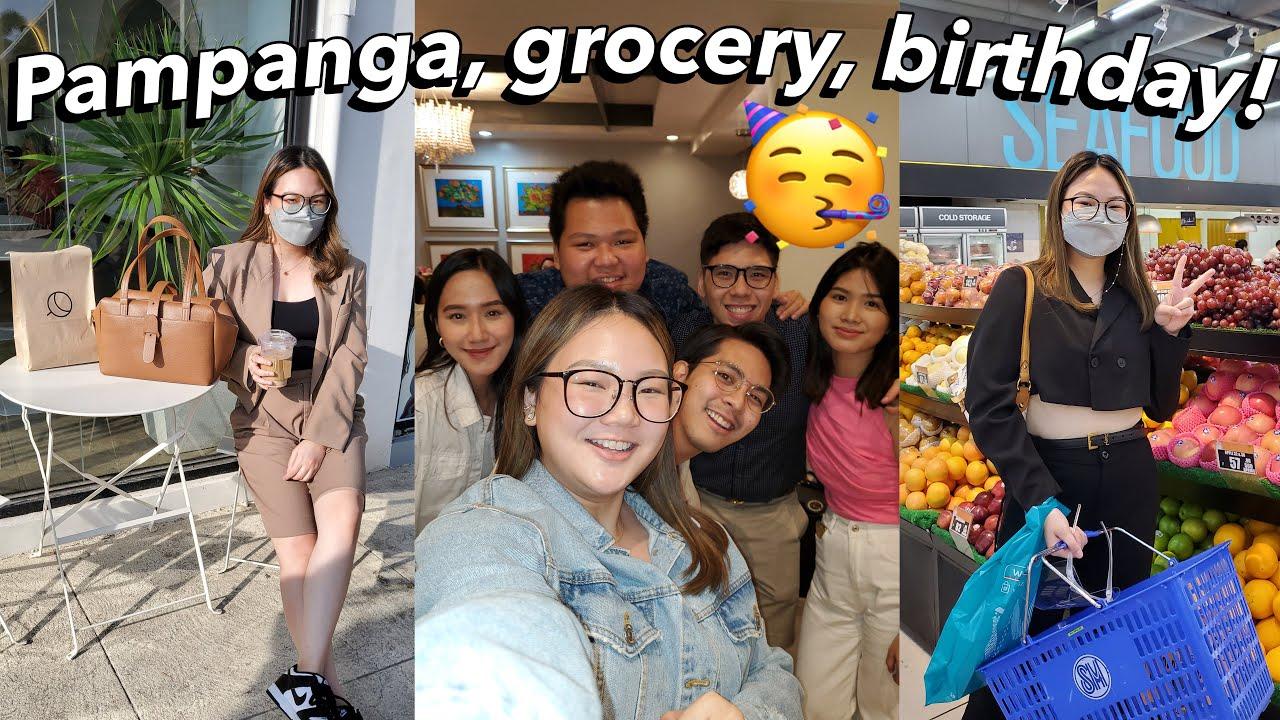 PAMPANGA, QUICK GROCERY, BRENT'S BIRTHDAY! | ASHLEY SANDRINE