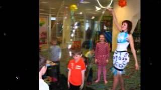 Шоу мыльных пузырей детский день рождения Омск.
