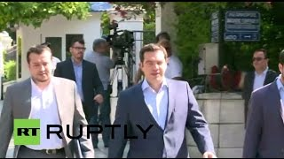 LIVE: Alexis Tsipras holds meeting to discuss 'No' result - arrivals