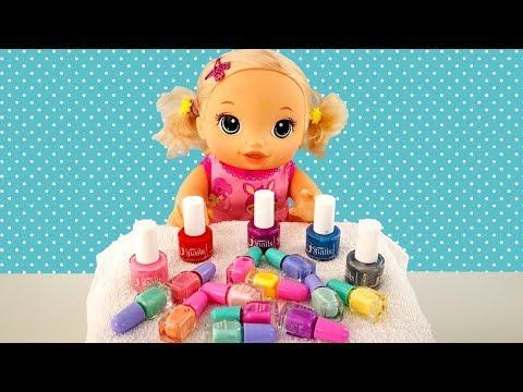 #Куклы Пупсики КРАСИМ НОГТИ ДЕТСКИЕ ЛАКИ Мультик Беби Элайв Игрушки Для девочек