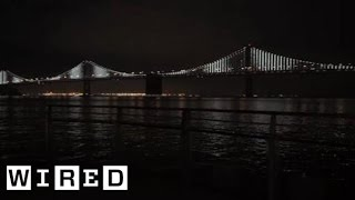 Twinkle Twinkle Giant Bridge - Bay Bridge San Francisco - Wired Magazine