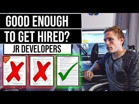 GOOD ENOUGH TO GET HIRED? | Jr. Developer Resume Reviews | #grindreel