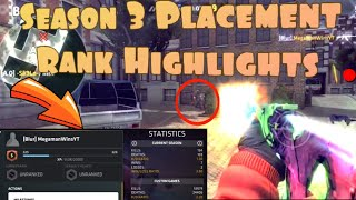Critical Ops Rank Season 3 Placement Highlights  - What Rank Will I Get👀