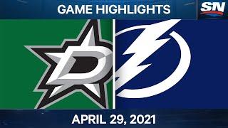 NHL Game Highlights | Stars Vs. Lightning - Apr. 29, 2021