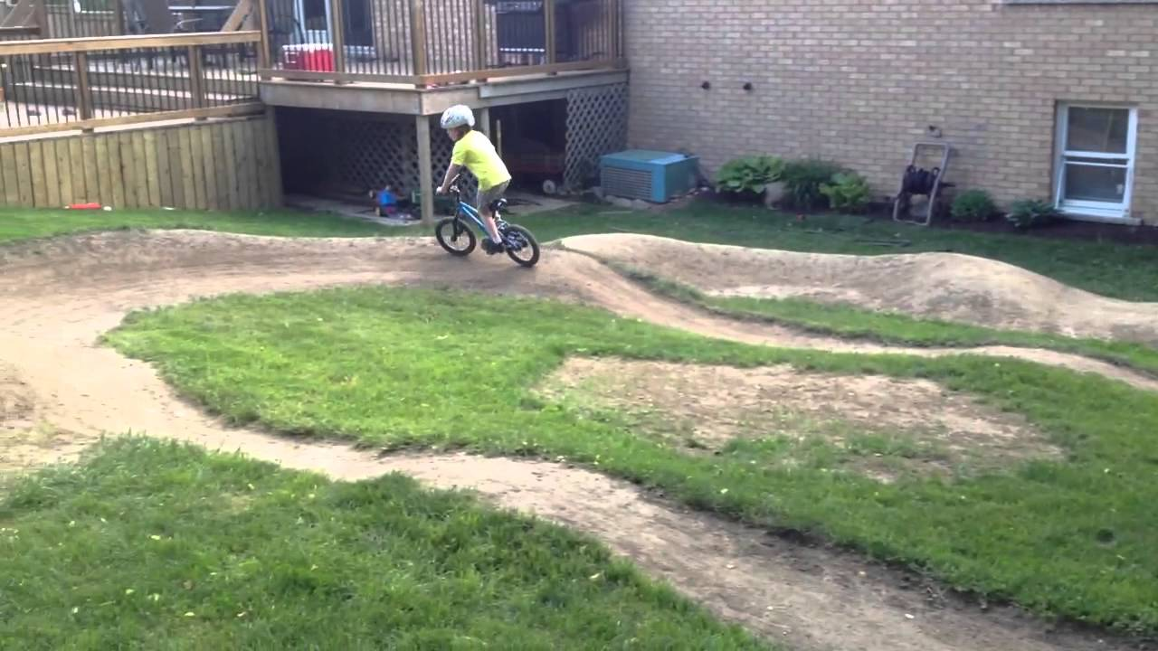 Backyard Pumptrack backyard pump track - youtube