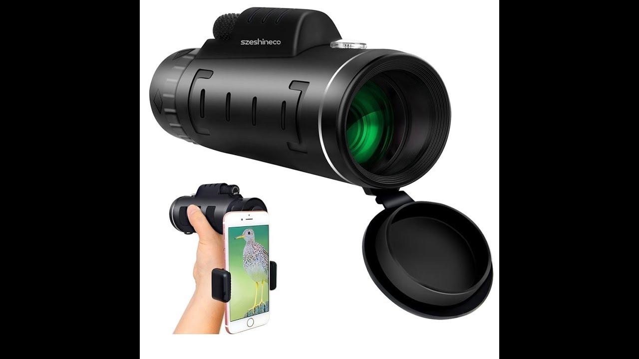 Szeshineco high power monoculars with tripod and phone