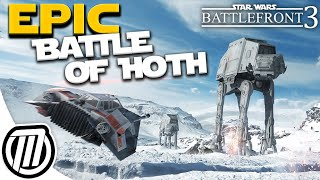 Star Wars Battlefront 3 Gameplay: HUGE Battle of HOTH! Multiplayer Beta - LIVE Stream (PC 1080p)