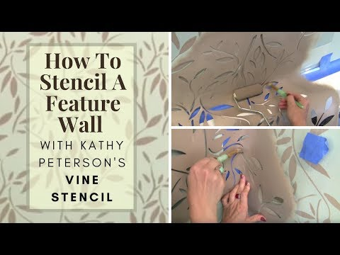 How To Stencil an Accent Wall with Kathy Peterson