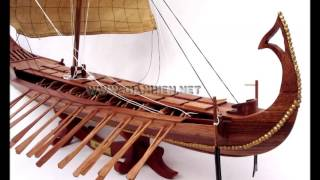 Bireme Wooden Model Boat