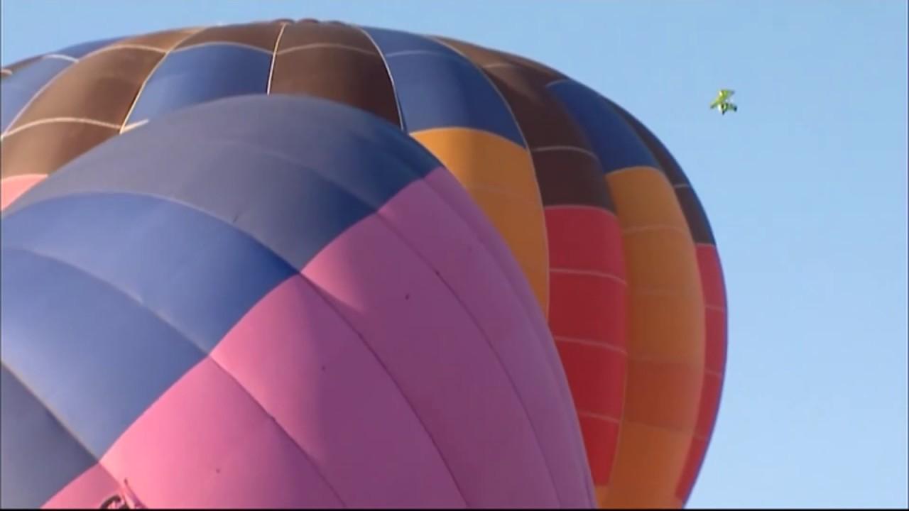 Опубликовано видео c упавшим в Феодосии воздушным шаром