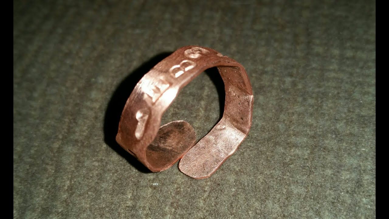 DIY - Day 27 - Copper Ring from 10 Gauge Copper Ground Wire and ...