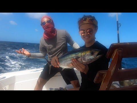 Amy Deep Sea Fishing In Aruba.  Tuna & Barracuda