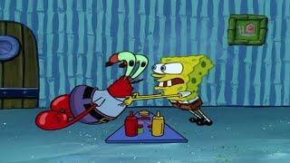 Spongebob Schwammkopf \\\x22Nachdenken... wie man einen Krabbenburger macht\\\x22   Bosslimo
