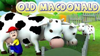 Old MacDonald Had A Farm - 3D Animation English Nursery Rhymes & More Kids Rhymes