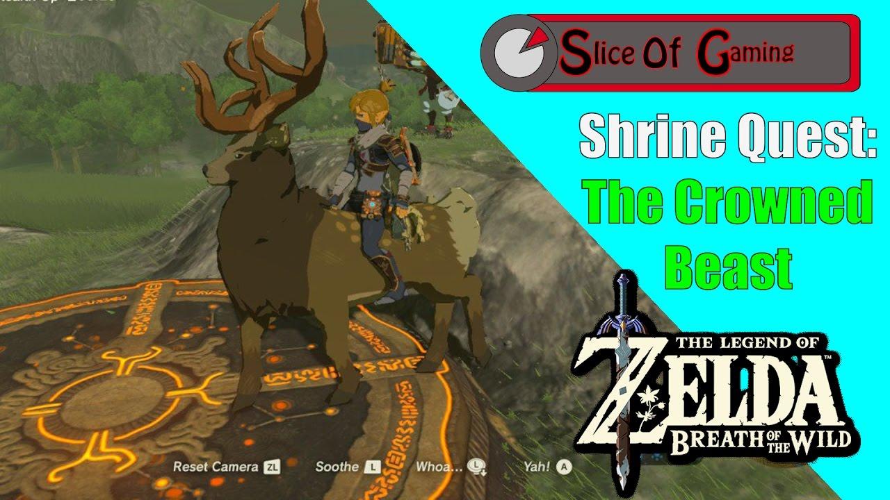 legend of zelda botw shrine quest: the crowned beast