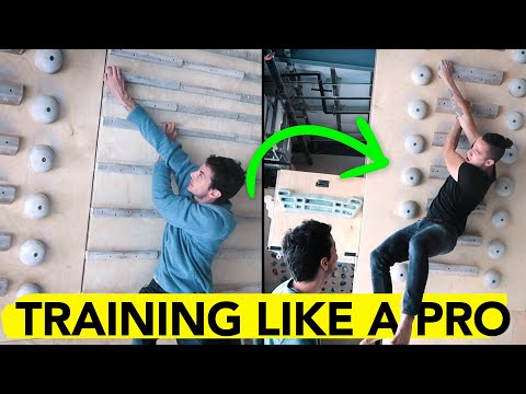 Training With A Pro Climber On The Campus & Hangboard ( Ft. Paul Robinson )