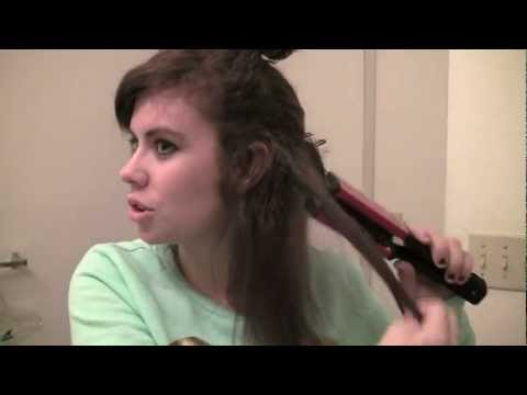 {Review} Straighten curly/frizzy hair in half the time?  Wigo Ceramic Straightening Brush