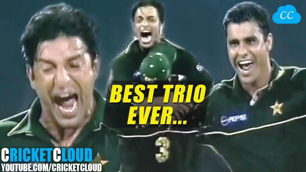 Download Wasim Waqar Shoaib BEST TRIO EVER   Sharjah Cup Final 2002 !!