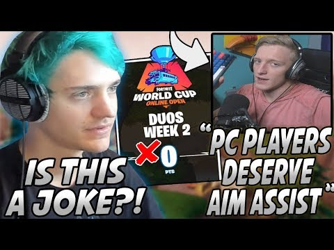 """Ninja Reacts To Tfue WANTING """"Aim Assist"""" On PC & Epic REMOVING His World Cup Qualifying Points!"""