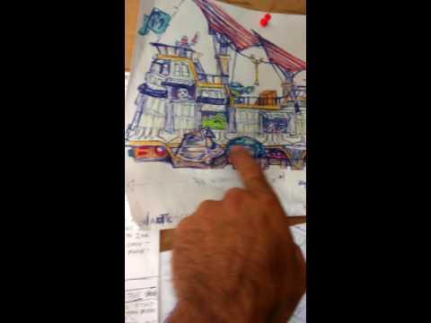 star wars 67 inch jabba sail barge prep work mcrobo creations