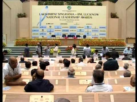Laksmipat Singhania - IIM Lucknow National Leadership Awards 2008