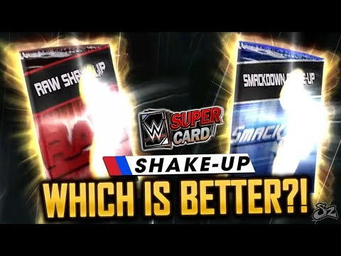 WHICH IS BETTER? RAW & SMACKDOWN SHAKE UP PACK OPENING!   WWE SuperCard S4