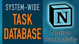 Notion Task Database For Comprehensive Linked System