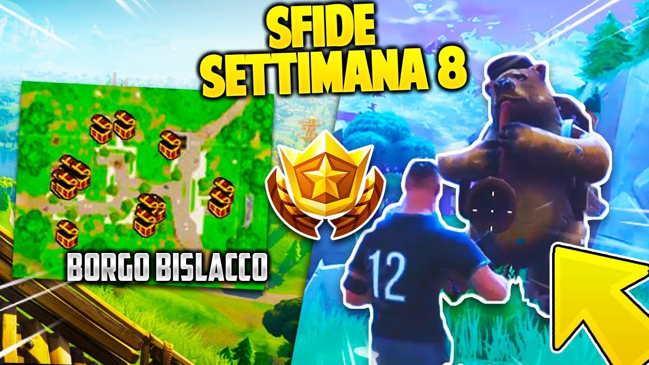 come completare le sfide settimana 8 su fortnite season 4 youtube. Black Bedroom Furniture Sets. Home Design Ideas