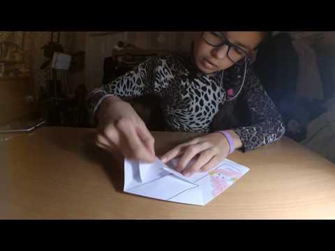Смотреть онлайн как сделать валентинку из бумаги?(ОРИГАМИ)/how to make a Valentine out of paper?(ORIGAMI)