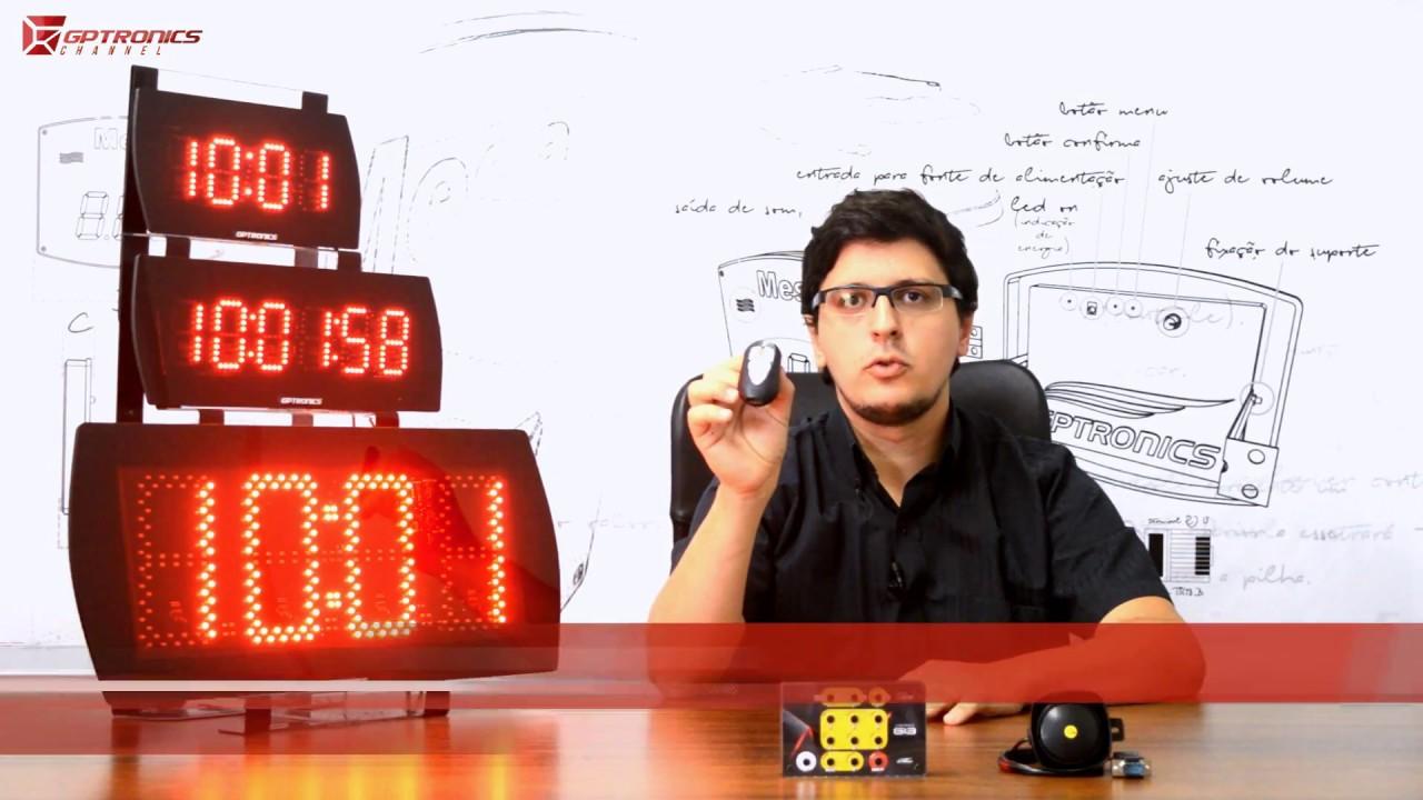 e0cddd241fe Painel Relógio e Cronômetro LEDTime - GPTRONICS - YouTube