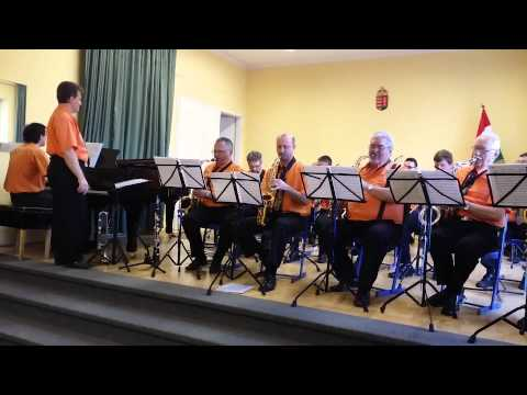 Klausz Máté(9 years old drummer)&Friends Big band-Hawaii five o