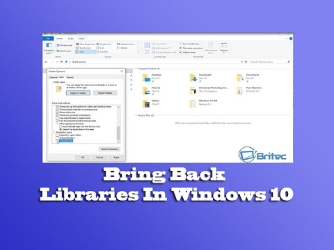 Bring Back Libraries In Windows 10