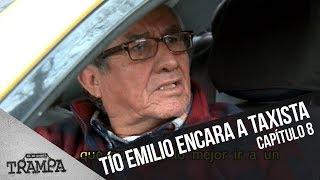 Emilio encara a violento taxista  | En su Propia Trampa | Temporada 2017