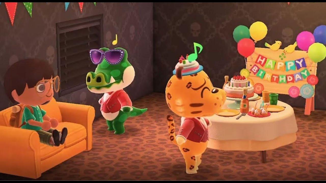 Happy Birthday Celebration   Animal Crossing: New Horizons ...