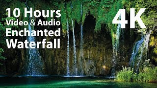 4K UHD 10 hours - Enchanted Waterfall - mindfulness, ambience, relaxing, meditation, nature