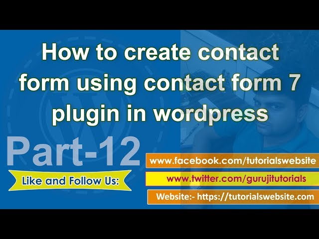 Wordpress tutorial in hindi step by step- Part-12: Create contact form using contact form 7 plugins