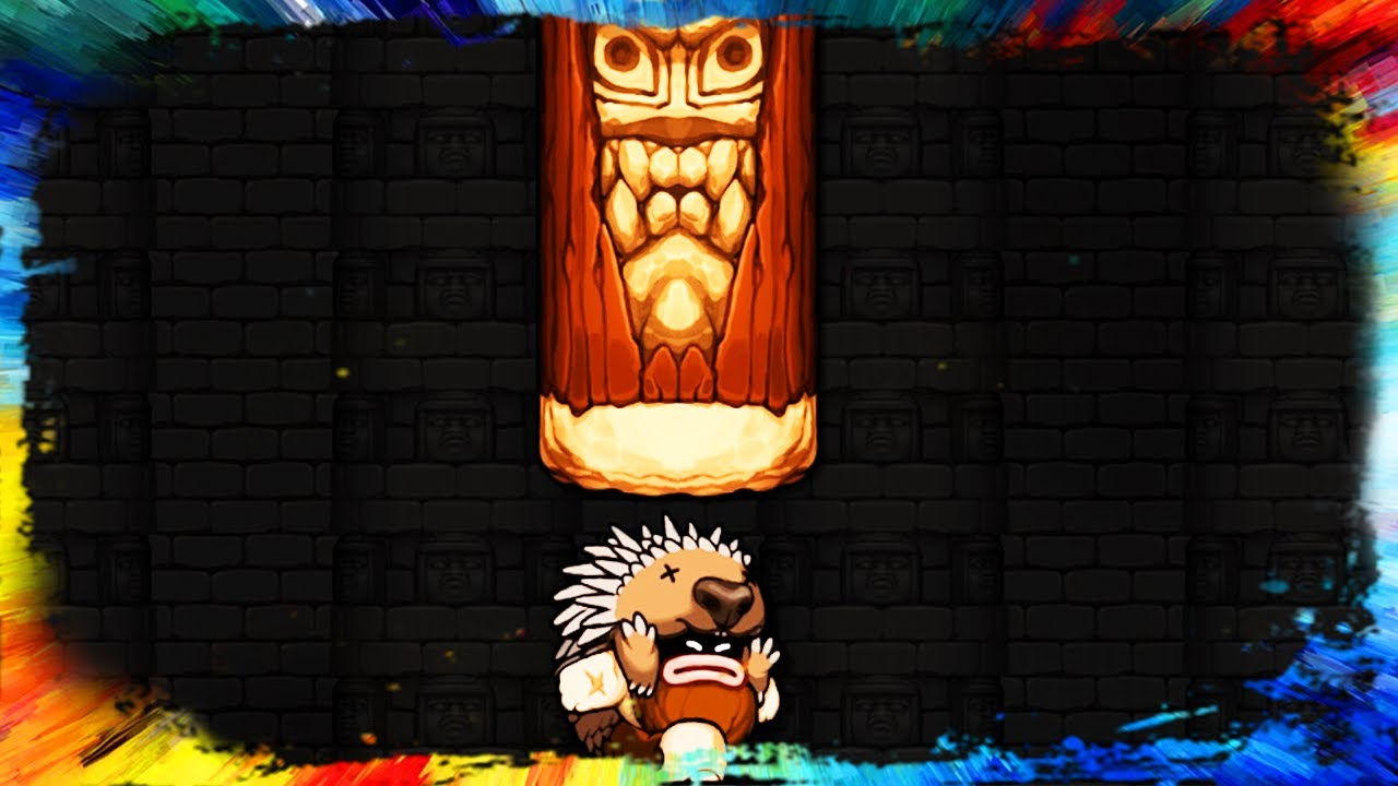 Spelunky 2 Giant Log vs Bosses