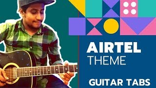 Airtel Theme Music | Easy Guitar Lesson For Beginners In Hindi