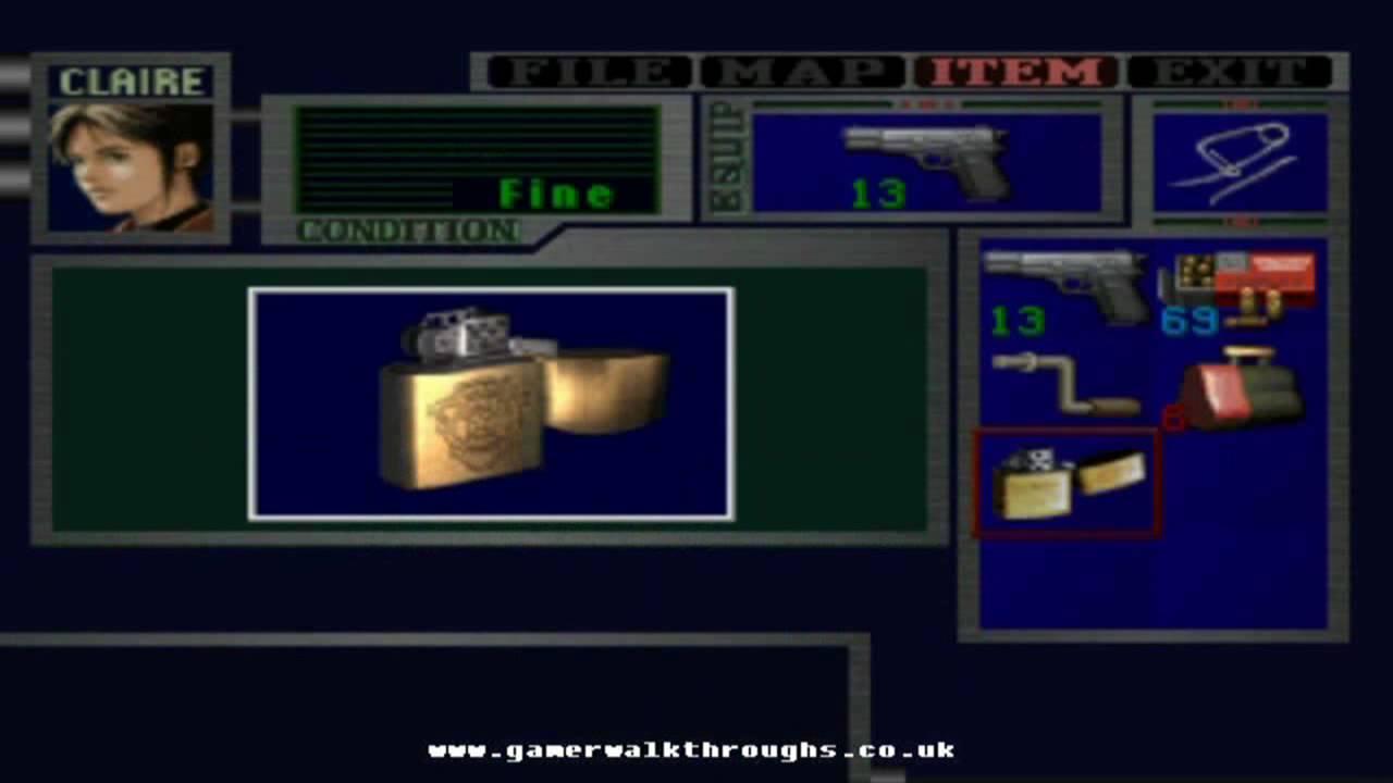 Resident Evil 2 Ps1 Walkthrough Lighter Youtube