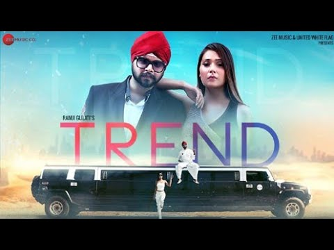 Trend punjabi lyrics video |Ramji gulati | Pahwa | trend song lyrics Ramji gulati| Trend full video