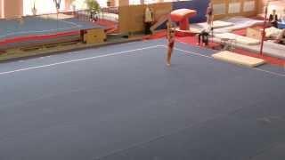 Unzhakova Anastasiya Floor. Вольные. Gymnastics level 8. Анастасия Унжакова вольные
