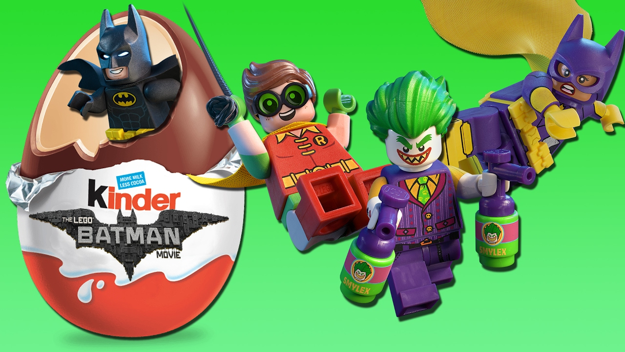 LEGO BATMAN MOVIE - Kinder Eggs Surprise! Toys Collection New Kids TV