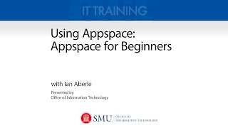 Using Appspace: Appspace Basics