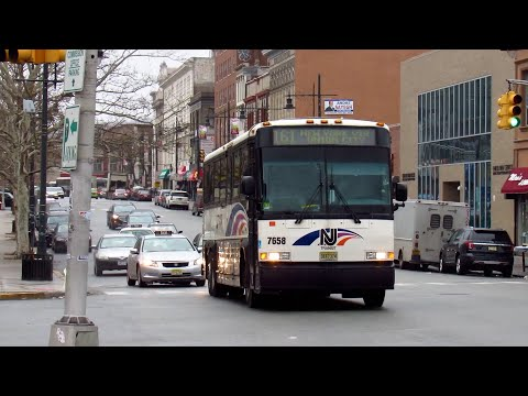 New Jersey Transit: 2002 Motor Coach Industries D4000 #7658 on the 161 @ the Paterson Station