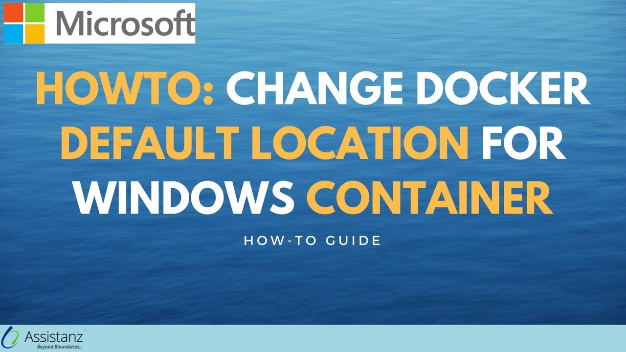 change default installation Path for docker folder - Assistanz