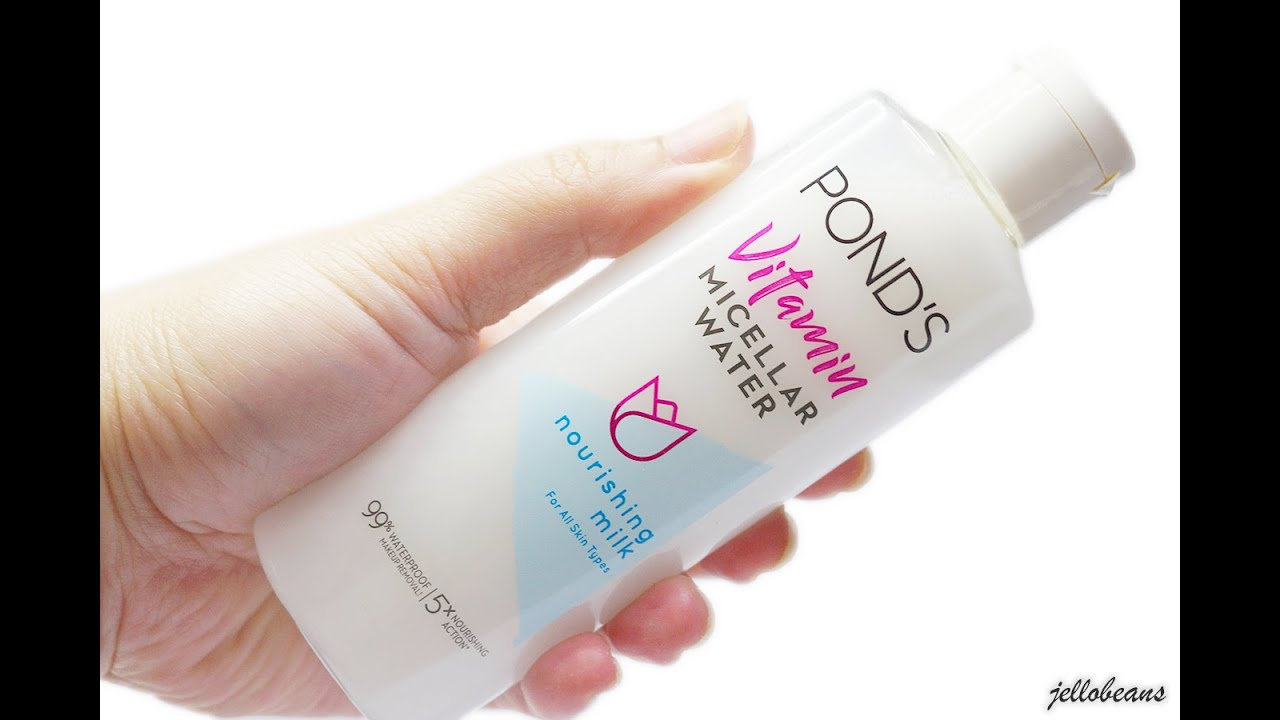 Removing Waterproof Makeup Using Pond's Vitamin Micellar Water Nourishing Milk