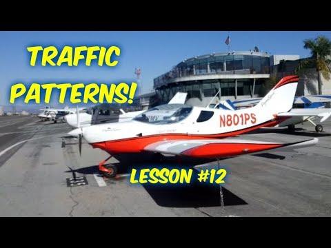 Private Pilot's License--Lesson #12--TRAFFIC PATTERNS (6 Landings & Takeoffs)!!