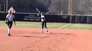 At Practice: Army Softball
