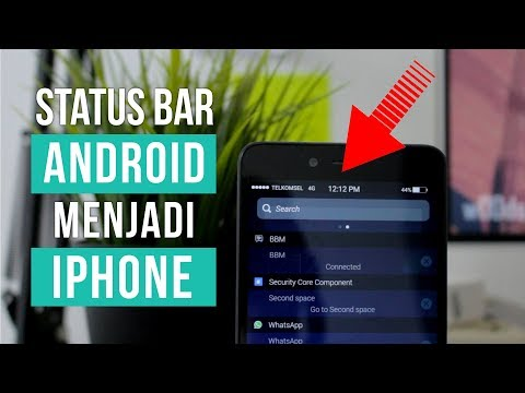 How to Change Android Status Bar Being an iPhone